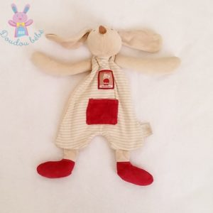 Doudou plat Lapin rayé Linvosges MOULIN ROTY