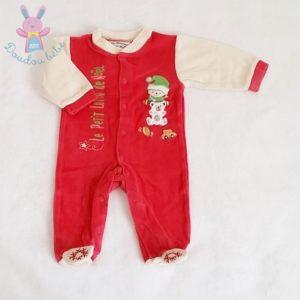 Pyjama velours rouge Le lutin de Noël bébé garçon 3 MOIS LES CHATOUNETS