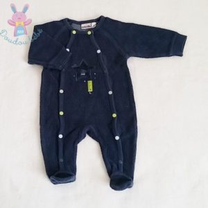 Pyjama éponge bleu foncé bébé garçon 3 MOIS AUBISOU