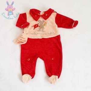 Pyjama saumon et rouge Souris bébé garçon 3 MOIS