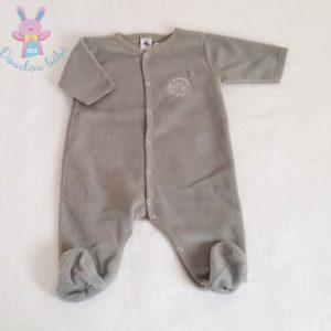 Surpyjama polaire gris bébé garçon 3 MOIS PETIT BATEAU