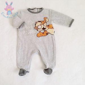 Pyjama velours gris Tigrou bébé garçon 3 MOIS DISNEY