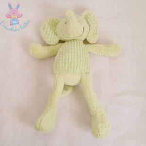 Doudou éléphant vert 46 cm TEX