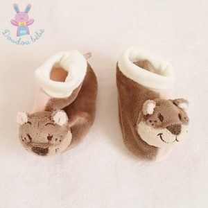 Chaussons hochet Oscarine fille 3/9 MOIS NOUKIE'S