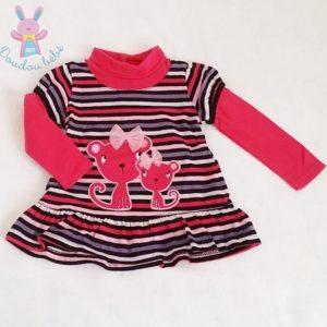 Robe rayée colorée bébé fille 12 MOIS