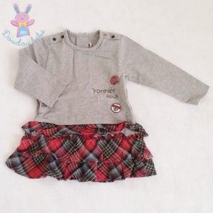 Robe grise à volants bébé fille 12 MOIS GRAIN DE BLE