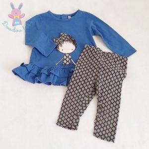 Ensemble robe + legging bébé fille 12 MOIS