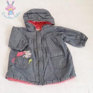 Blouson à capuche jean bébé fille 12 MOIS DPAM