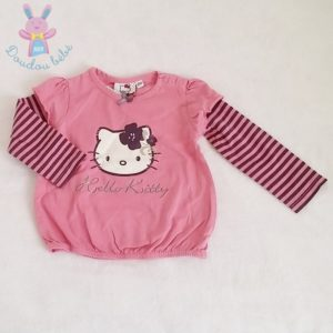 T-shirt rose bébé fille 12 MOIS HELLO KITTY