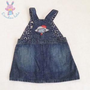Robe jean bretelles bébé fille 12 MOIS DPAM