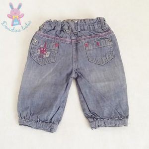 Pantacourt jean bleu clair bébé fille 12 MOIS