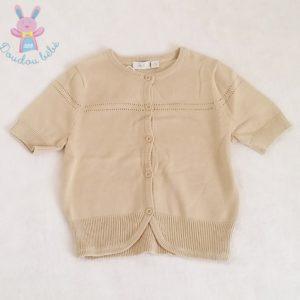 Gilet beige bébé fille 12/18 MOIS MEXX