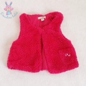 Gilet sans manches rose bébé fille 12 MOIS ORCHESTRA