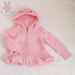 Sweat à capuche rose bébé fille 12/18 MOIS GAP