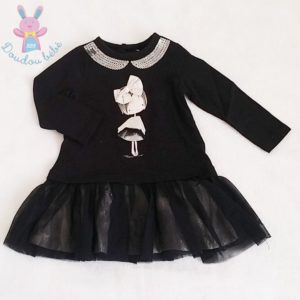 Robe noire tulle strass bébé fille 12 MOIS