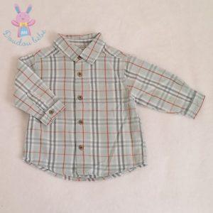 Chemise à carreaux bleu bébé garçon 6 MOIS DPAM
