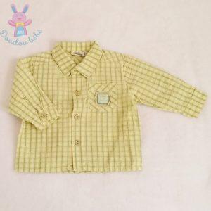 Chemise à carreaux jaune bébé garçon 6 MOIS SERGENT MAJOR