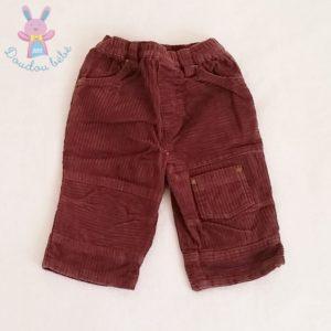 Pantalon velours prune bébé garçon 6 MOIS OBAIBI
