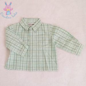 Chemise à carreaux vert bébé garçon 6 MOIS LA REDOUTE