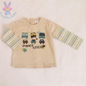 T-shirt beige bébé garçon 6 MOIS