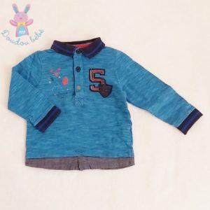 Polo bleu bébé garçon 6 MOIS ORCHESTRA
