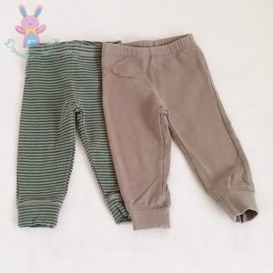 Lot 2 leggings bébé fille 9 MOIS TEX