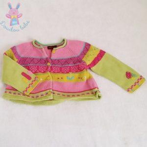 Gilet coloré mailles bébé fille 9 MOIS CATIMINI