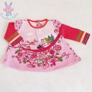 T-shirt rose fantaisie bébé fille 9 MOIS CATIMINI
