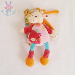 Doudou Girafe musical rose et coloré BABY NAT