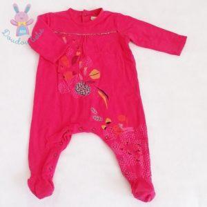 Pyjama coton fuchsia fleurs bébé fille 12 MOIS CATIMINI