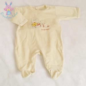 Pyjama velours jaune bébé garçon 6 MOIS SUCRE D'ORGE