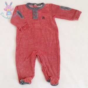 Pyjama velours rayé bébé garçon 6 MOIS BABIDU