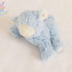 Doudou Mouton blanc et poils bleus Pédiatril