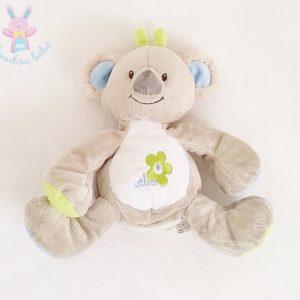 Doudou Koala Arthur gris bleu vert Bébisol