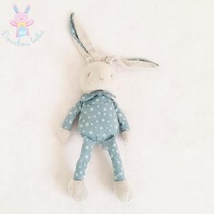 Doudou Lapin gris bleu étoiles KLORANE