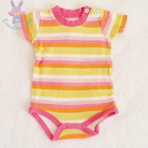 Body rayé multicolore bébé fille 3 MOIS