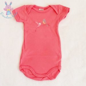 Body rose-orangé bébé fille 3 MOIS PETIT BATEAU