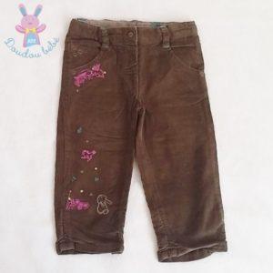 Pantalon velours marron bébé fille 12 MOIS TCF