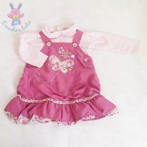 Ensemble robe + haut rose bébé fille 12 MOIS