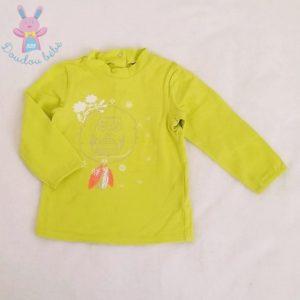 T-shirt vert anis bébé fille 12 MOIS ORCHESTRA