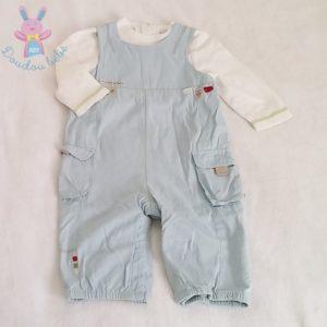 Ensemble salopette + T-shirt bébé garçon 12 MOIS VERTBAUDET