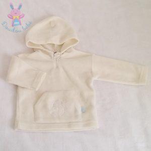 Sweat polaire à capuche bébé garçon 12 MOIS