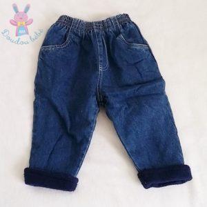 Pantalon jean bleu doublé bébé garçon 12 MOIS