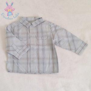 Chemise carreaux bleu bébé garçon 12 MOIS OBAIBI