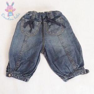 Pantacourt jean bleu bébé fille 12 MOIS TAO