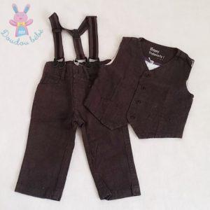 Ensemble Pantalon + Gilet bébé garçon 12 MOIS OBAIBI