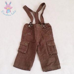 Pantalon marron bretelles bébé garçon 12 MOIS TAO