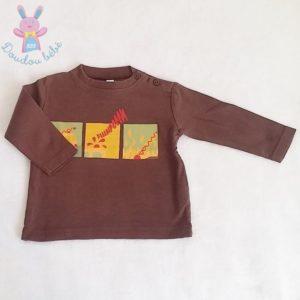T-shirt marron pompiers bébé garçon 18 MOIS
