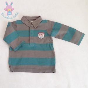 Polo gris bleu bébé garçon 18 MOIS VERTBAUDET