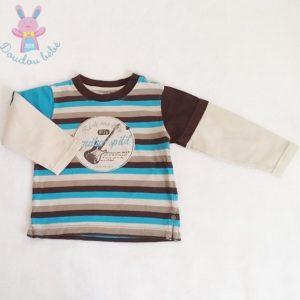 T-shirt rayé bébé garçon 18 MOIS ORCHESTRA